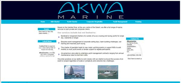 AkwaMarine Website